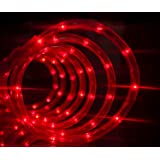 """Izzy Creation 18FT Red LED Flexible Rope Lights For Indoor/Outdoor Lighting, 3/8"""", Christmas, New Year, Valentine, Party, Event (18ft)"""