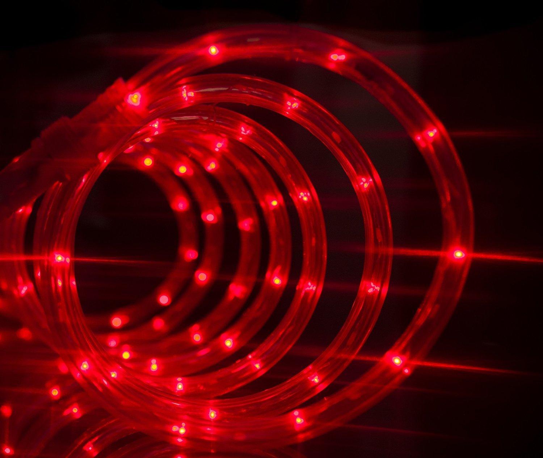 50 off izzy creation 18ft red led flexible rope lights for indoor outdoor lighting 3 8. Black Bedroom Furniture Sets. Home Design Ideas