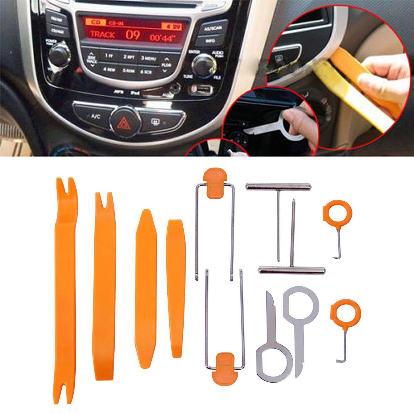 12PCS Coche Radio Est/¨/¦reo Puerta eliminaci/¨/®n del ajuste Panel Dash Pry Herramienta Kit Audio Instalador Goliton