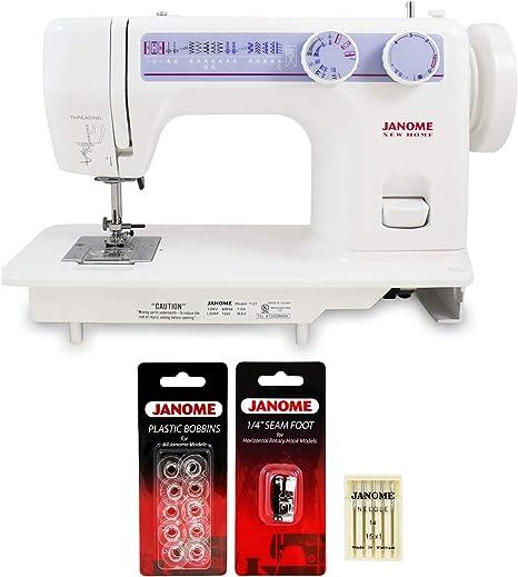 Janome 712T Máquina de coser con pie de costura Janome de 1/4 ...