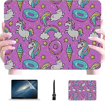 Macbook Pro 15in Estuche de Patrones sin Fisuras con Unicornios Donuts Rainbow Co Estuche rígido de plástico Estuche Mac Compatible para Macbook Accesorios de protección para Macbook con Alf: Amazon.es: Electrónica