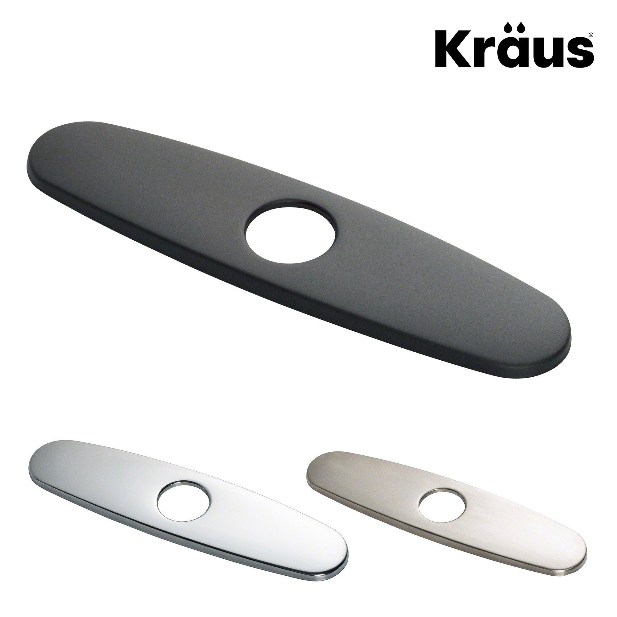 "Kraus Kitchen Faucet 10"" Deck Plate in Matte Black"