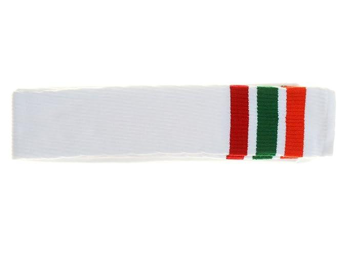 Choobes Unisex calcetines blancos del tubo del muslo de 35 pulgadas con las rayas rojas verdes anaranjadas: Amazon.es: Ropa y accesorios