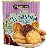 Julie's Treasure Assorted Biscuits Biscuits Tin, 530g