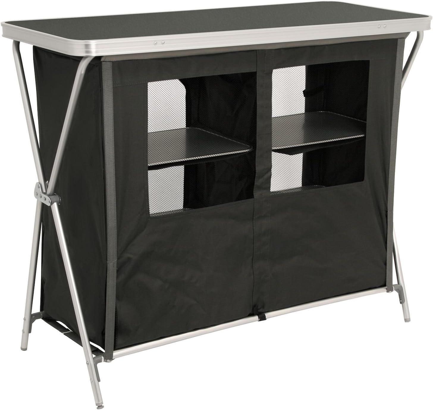 CampFeuer - Armario de camping, cocina de camping con estructura de aluminio, aprox. 110 cm de largo x 47 cm de ancho x 90 cm de alto.