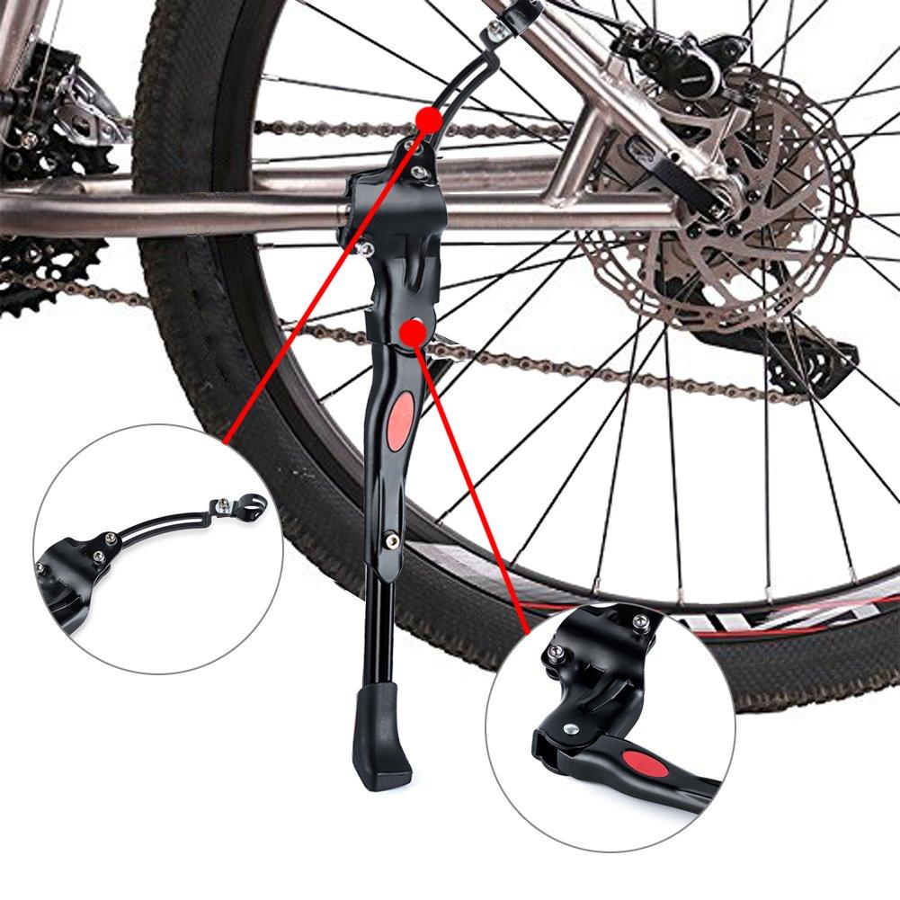 調節可能な自転車自転車キックスタンドwithノンスリップ足、Suit for 26インチ、28インチ、700マウンテンバイクと自転車 B076T8Z763