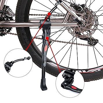 "S2 Fahrradständer Hinterbauständer Fahrrad Ständer 26/"" Seitenständer Schwarz Neu"