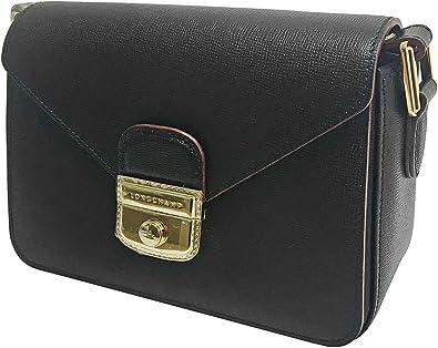 Longchamp Le Pliage Heritage Crossbody, Black, OS: Handbags ...