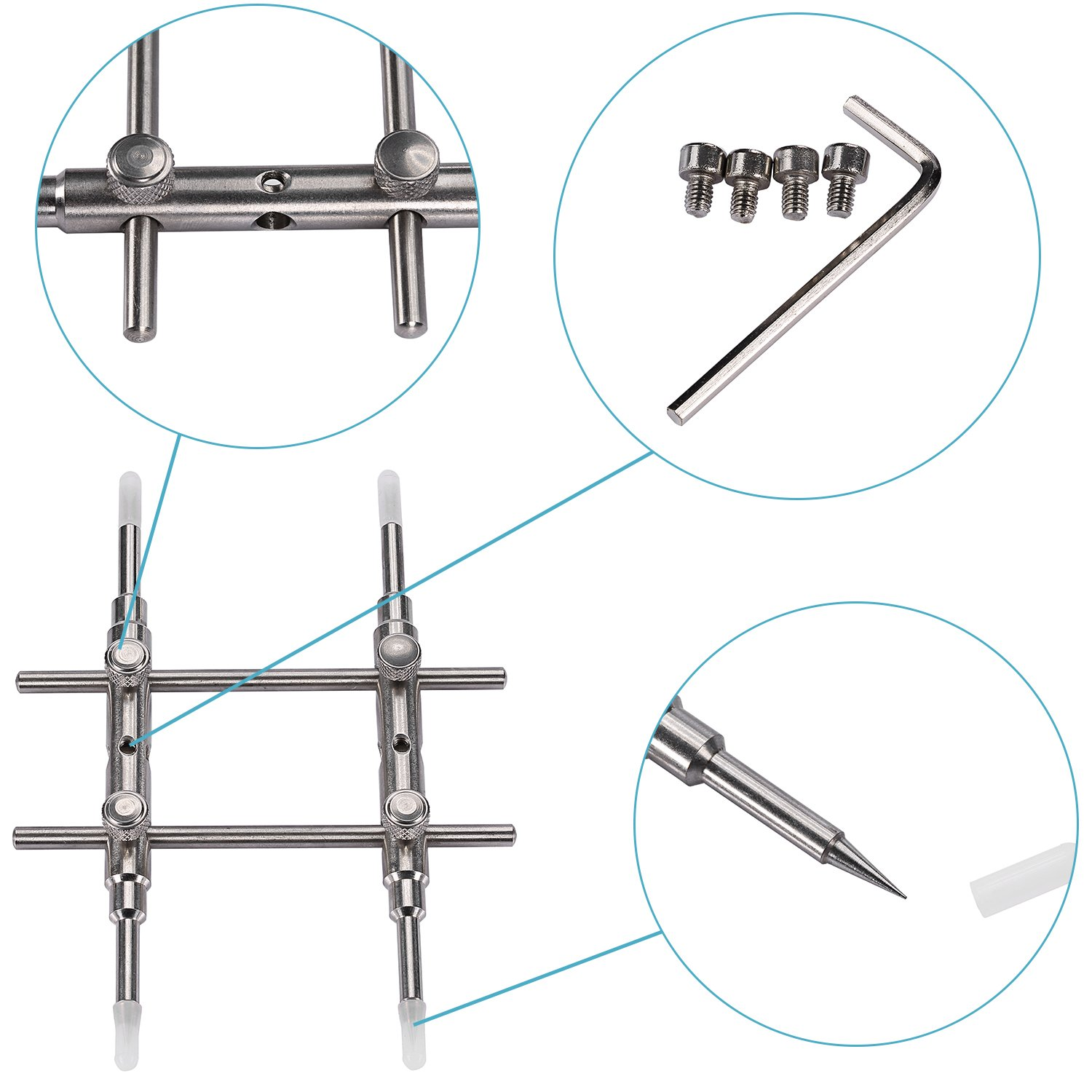 Neewer Professional Flat & pointed Tips DSLR Camera Lens Spanner Wrench Repairing Opening Tool for Most Cameras