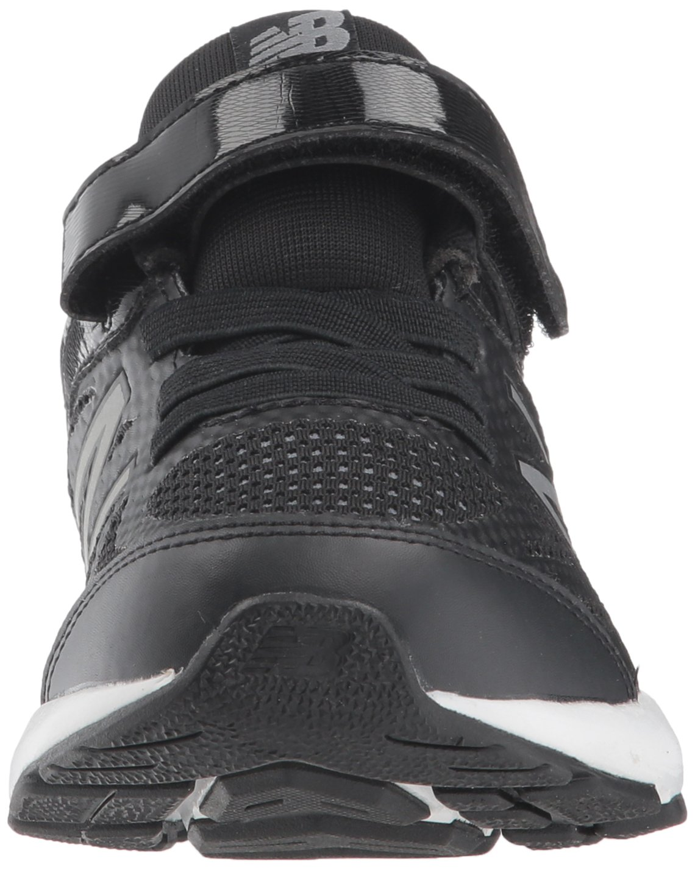 New Balance Boys' 519v1 Hook and Loop Running Shoe Black/White 2 M US Infant by New Balance (Image #4)
