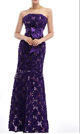 CP10 Purple /RED/Blue lace fishtail size 8-18 Evening Dresses Evening Dresses