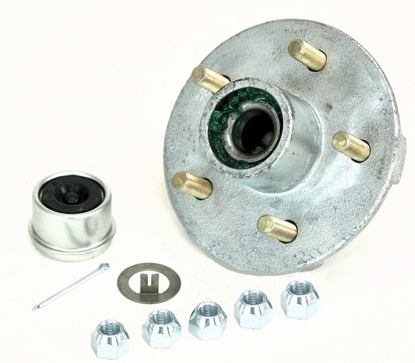 CE Smith Trailer Tapered 1-3/8'' to 1-1/16'' Stud (5 X 4 1/2) Galvanized Trailer Hub Kit by CE Smith