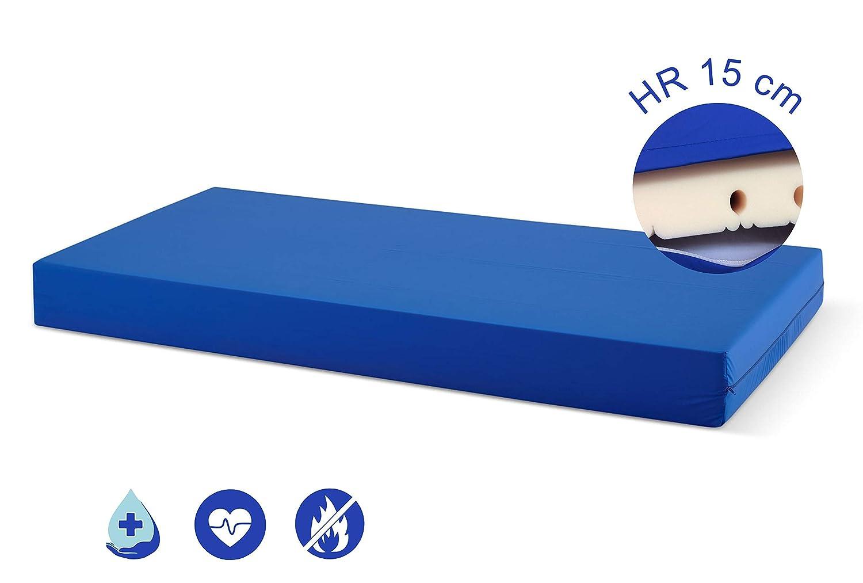 Ferlex SaniMat Colchón Geriátrico/COLCHON ANTIESCARAS/Hospitalario 15cm HR/Articulado con Funda Sanitaria Impermeable e ignifuga Toda la Península/Variedad ...