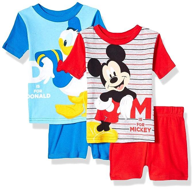 Amazon.com: Disney - Pijama de Mickey Mouse para niños (4 ...