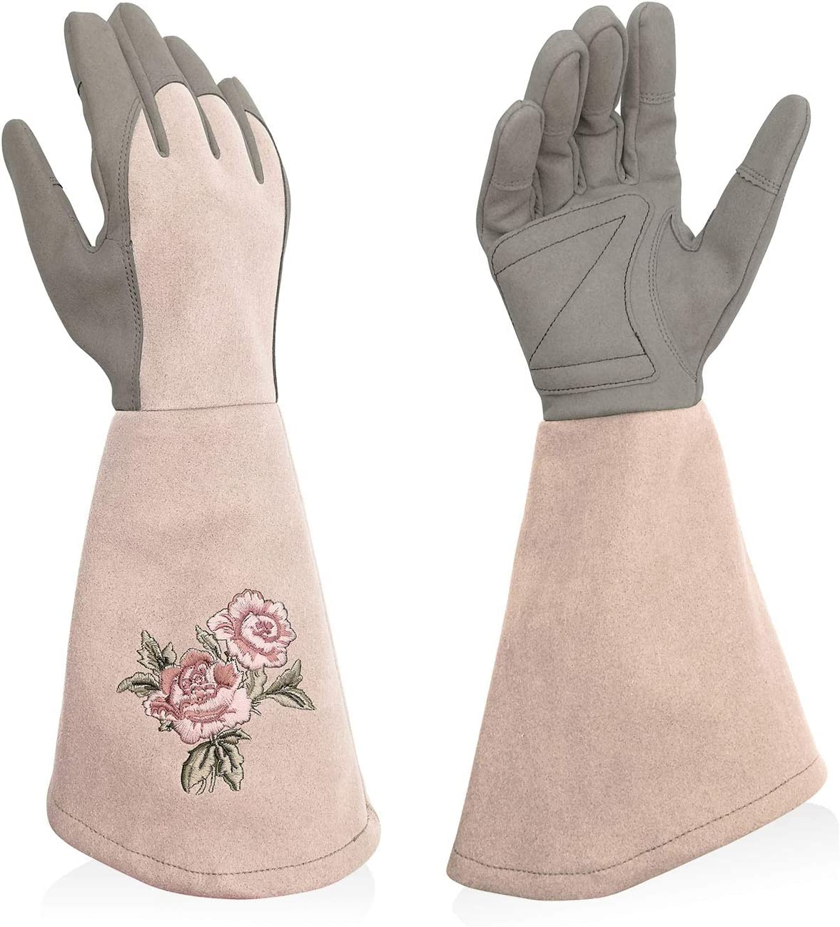 Intra-FIT Professional Rose Pruning Thornproof Gardening Gloves Puncture Resistant with Extra Long Forearm Protection for Women