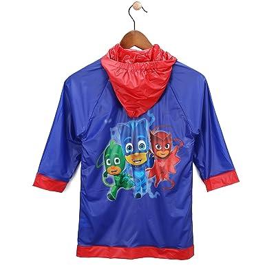 Disney Boys PJ Masks Blue and Red Rain Slicker - Toddler 2-3 Small