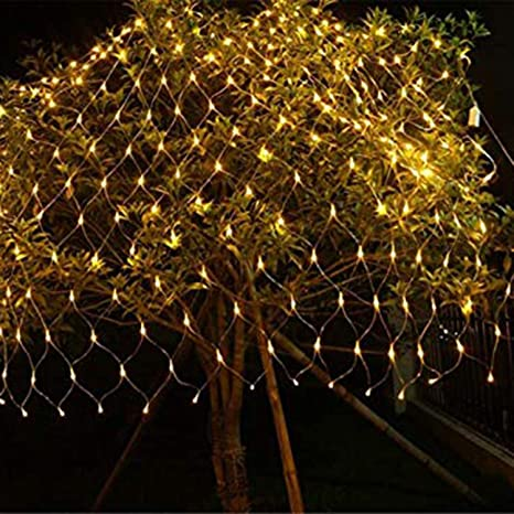 the best attitude 553f1 c3fd2 Quace LED Fairy String Decorative Net Lights Net Mesh Tree-wrap Lights Low  Voltage for Christmas Wedding Garden Outdoor Decorations Warm White 96 LEDs  ...