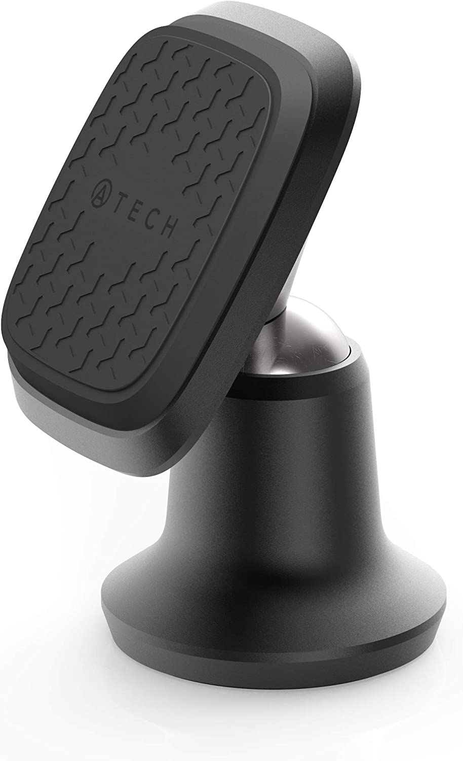 ATECH Magnetic Car Mount Dashboard Phone Holder Universal All Smartphones Small Tablet with Cases Small-Sized Kitchen Bathroom Car Black Bedside