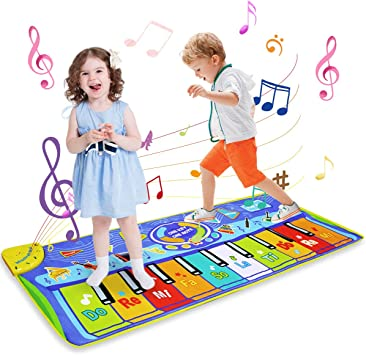 LEADSTAR Juguetes Niños 1 2 3 Años, Alfombra Musical Piano para Niños Alfombrilla de Baile Teclado Estera de Alfombra Touch Juego Musical Portátil ...