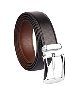 CLUB SPUNKY Reversible PU-Leather Formal Black/Brown Belt For Men (Color-Black/Brown) belt for men, formal belt, gift for gents, Gents belt, mens belt (Diamond Texture)