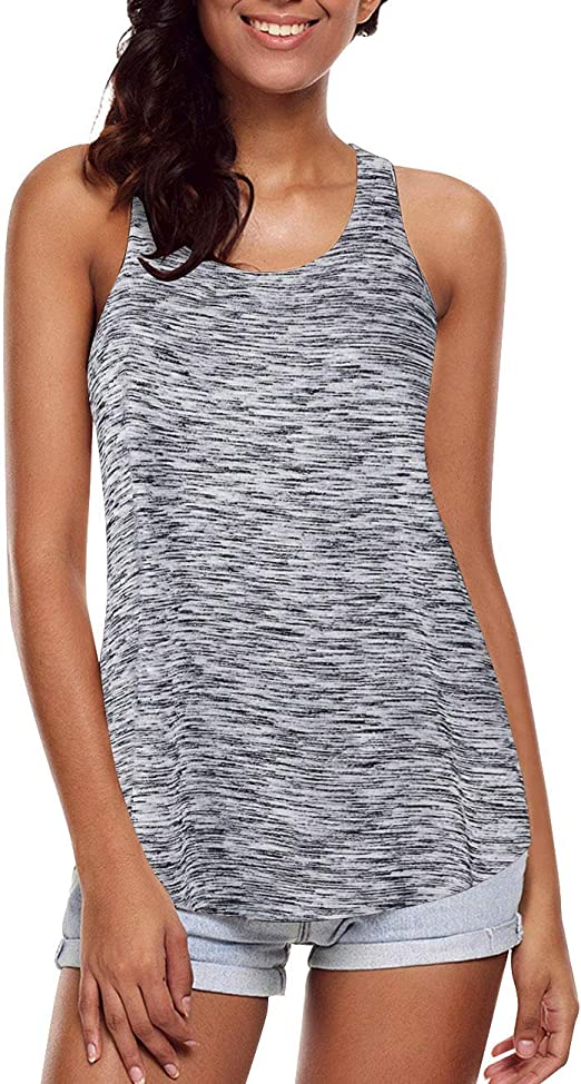 Sykooria Damen Sporttop Tank Top Sport Oberteile /ärmelloses Lauftop Fitness Fitness Shirts Yoga Shirt f/ür Frauen
