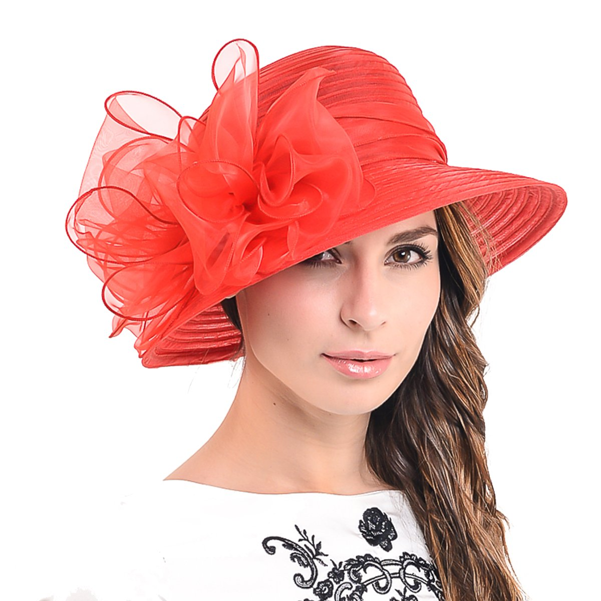 Ascot Derby Bowler Church Cloche Hat Bowknot Bridal Dress Party Cap S051