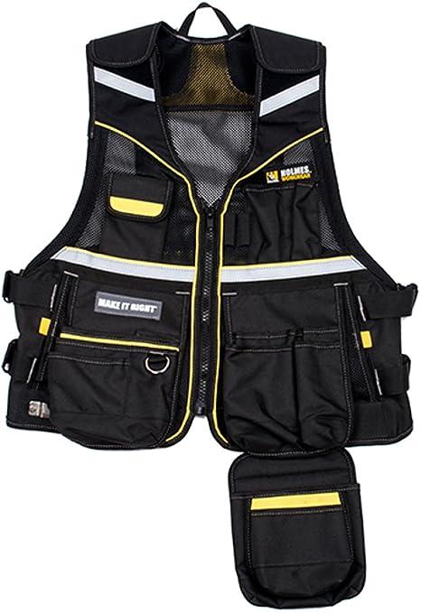 c0a56695 Holmes 10-3530-MHBLK Workwear Tool Vest - - Amazon.com
