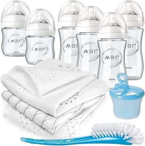 Philips AVENT botellas Premium Starter Set Vidrio – 6 biberones ...