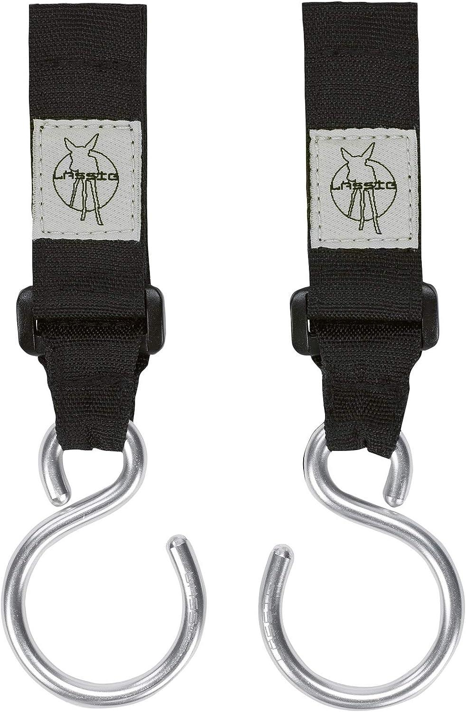 Lässig Casual Stroller Hooks cochecito Fijación/carritos Ganchos de metal con velcro, 2unidades)