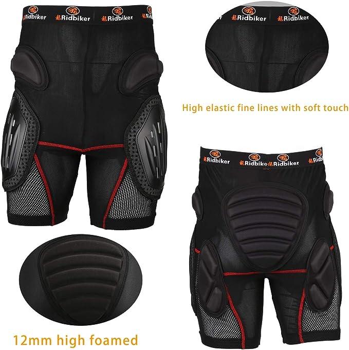 RIDBIKER Aluminum Alloy Armor Pants Skating Protective Snowboarding Mountain Bike Cycling Motocross Skiing Protect Shorts