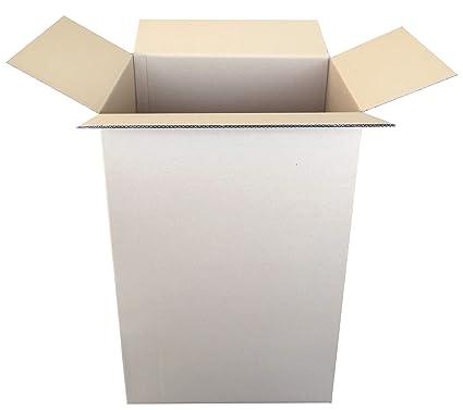 Pack de 10 Cajas de Cartón de Canal Doble y Color Marrón. Tamaño 51 x 37,5 x 80 cm. Mudanzas. Fabricadas en España. Normativa AFCO. Cajeando