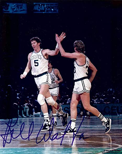 best website 670c5 49afb Bill Walton Signed Autographed 8X10 Photo Celtics High Five ...