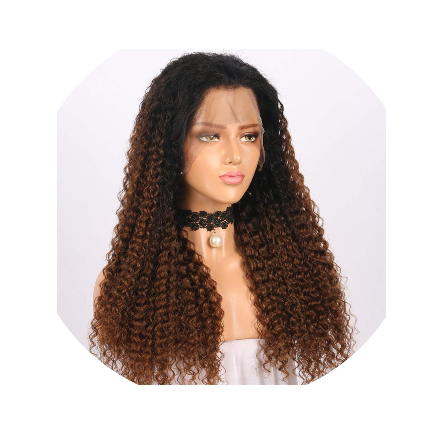 #1B/#4 Color Lace Front Human Hair Wigs Pre Plucked With Baby Hair Curly Lace Front Wigs For Black Women Brazilian Remy Hair,24inches,13x4 130 density