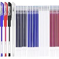 Warmte uitwisbare stofmarkeerpennen met 28 vullingen voor kleermakers naaien en quilten naaien, 4 kleuren…