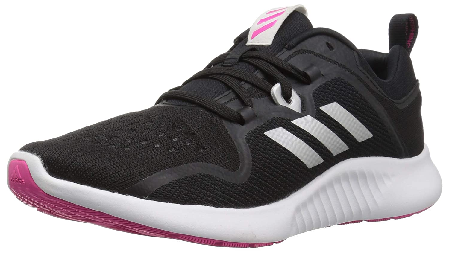 Black Silver Metallic Shock Pink Adidas Womens Edgebounce Running shoes