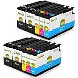 Gohepi 950XL/951XL Kompatibel für Druckerpatronen HP 950XL 951XL Officejet Pro 8620 8610 8600 Plus 276dw 8100 8615 251dw 8625 8660 8640 8630 Patronen - 4 Schwarz/2 Blau/2 Rot/2 Gelb 10er-Pack