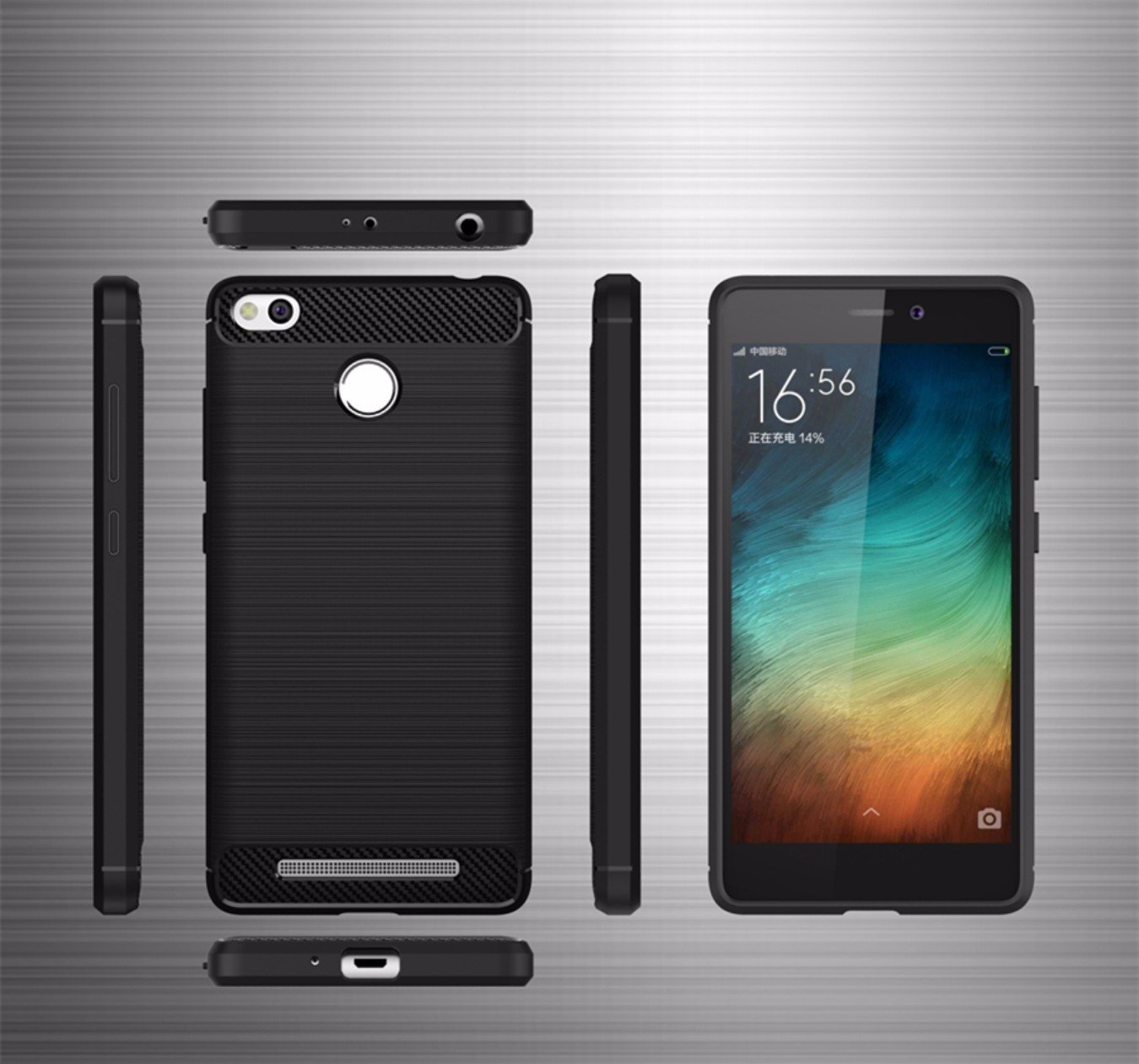 Norby Rugged Armor Shock Proof Back Cover Case For Xiaomi Redmi 3s Casing Handphone Tempered Glass Series Black Free Ultrathinblack Primewith Fingerprint Scanner Holeblack Electronics