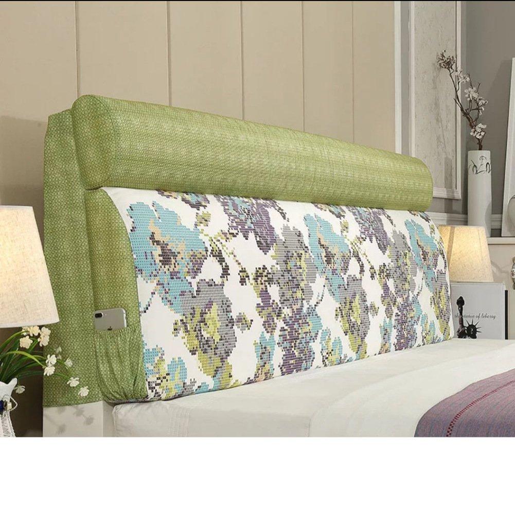 Bedside sponge cushion Large bed soft bag Modern washable double cushion Tatami bed cushion-D 120x60cm(47x24inch)