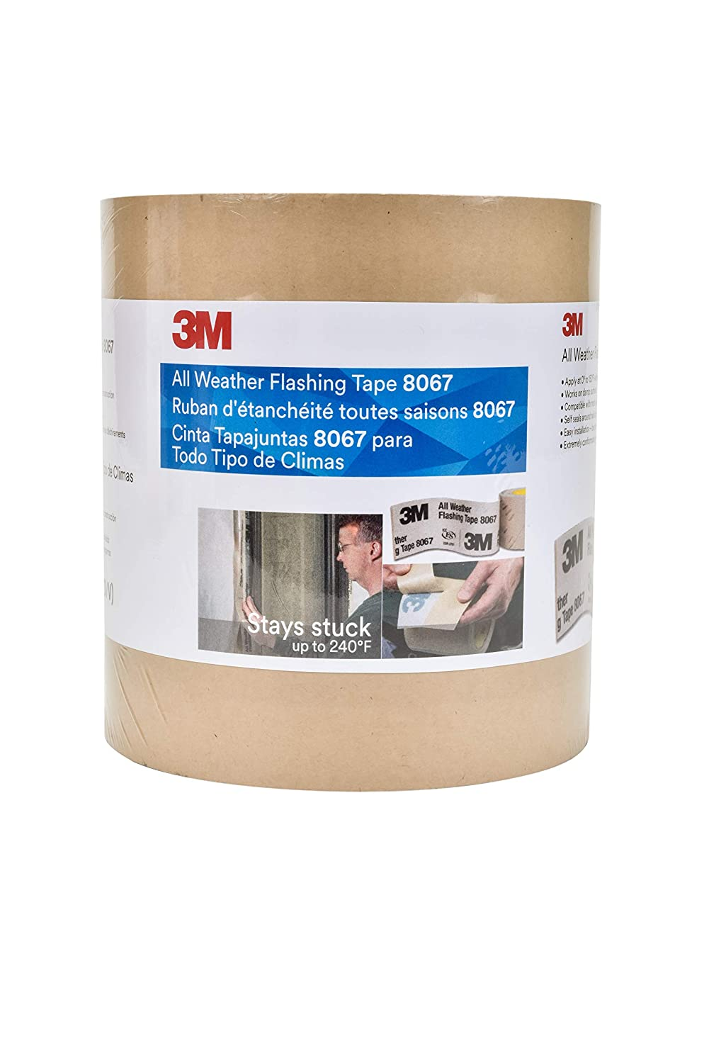 3M All Weather Flashing Tape 8067 Tan, 6 in x 75 ft