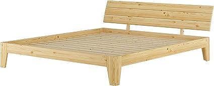 Futon cama doble Cama de Matrimonio cama 180 x 200 pino madera maciza natural somier enrollable Erst-Holz 60.62 – 18
