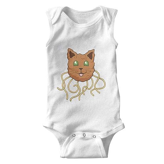 8b955bbd1cea epoyseretrtgty Sleeveless Newborn Baby Clothing Meatball Spaghetti Cat  Organic Cotton Clothes