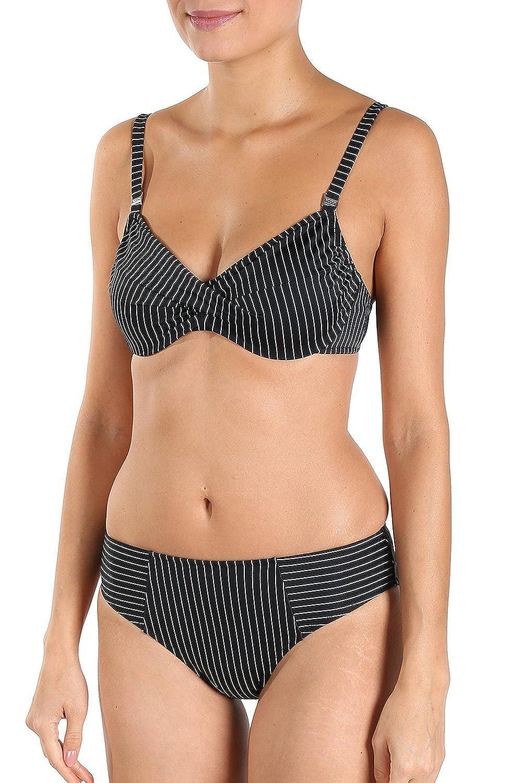 Rösch Bikini mit Nadelstreifen