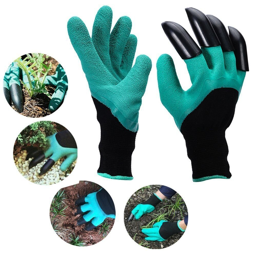 Garden Gloves With Claws, Great for Digging Weeding Seeding poking -Safe for Rose Pruning -Best Gardening Tool -Best Gift for Gardeners (Double Claw) YTH