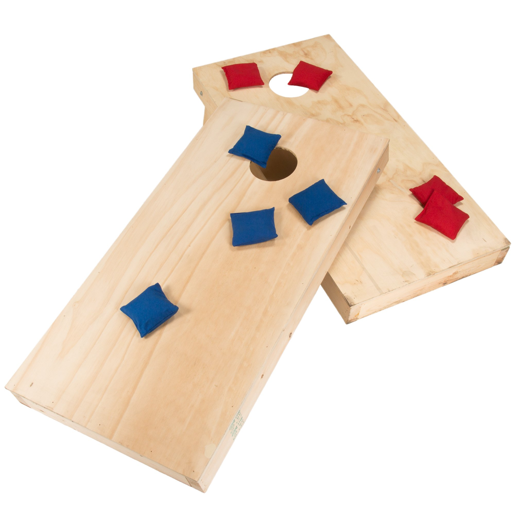 Hey! Play! Do-it-Yourself Regulation Size Corn Hole Boards & Bags Game