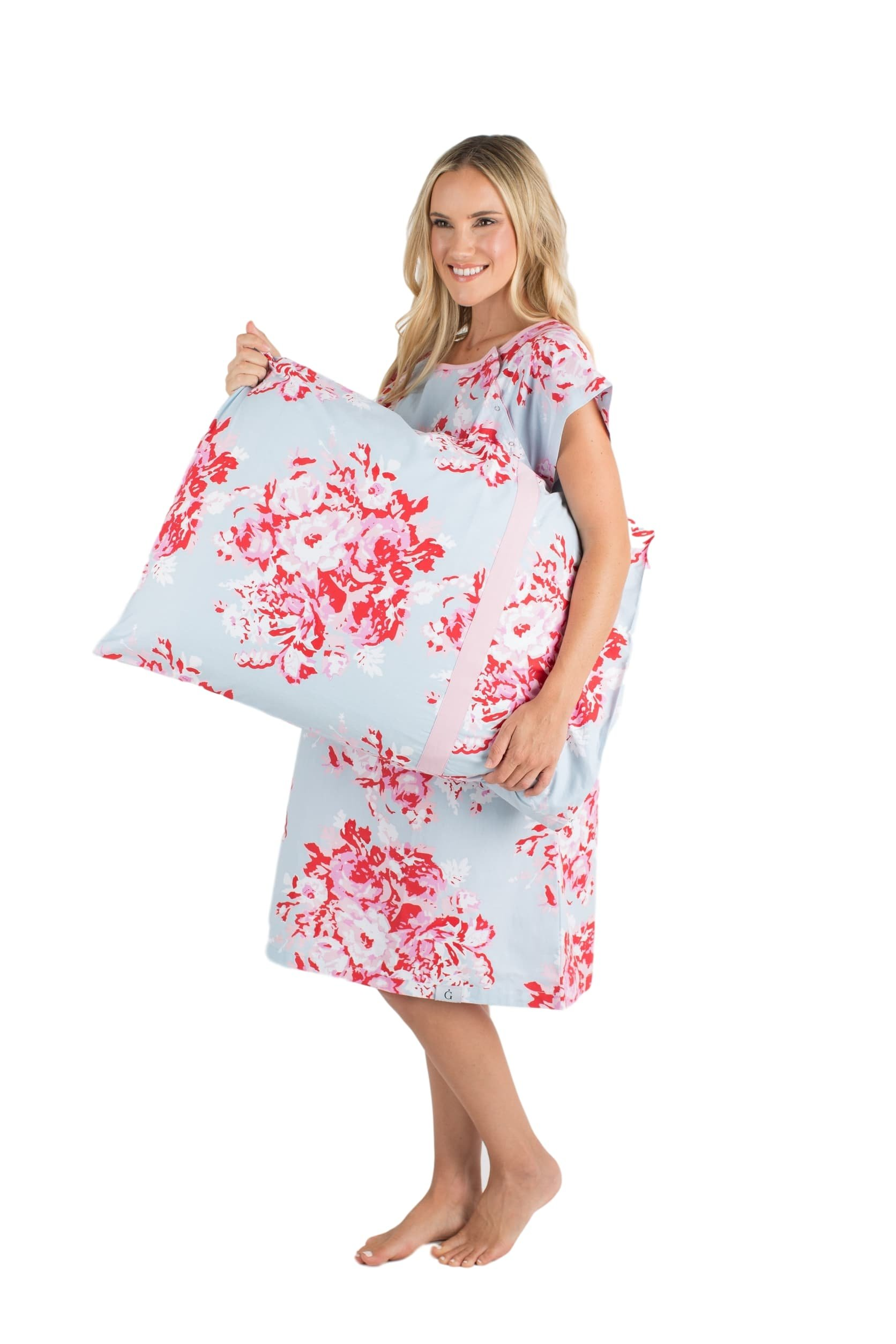 Gownies - Labor and Delivery Maternity Hospital Gown and Pillowcase ...