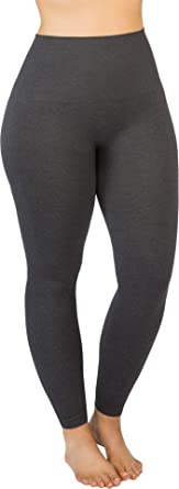 7841bd60f SPANX Women s Plus Size Look at Me Now Seamless Leggings Heather Charcoal  2X 26