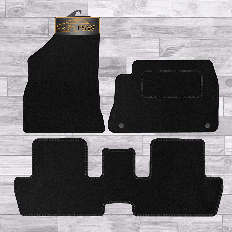 Peugeot 307 Tailored Black Car Floor Mats Carpets 4 piece Set