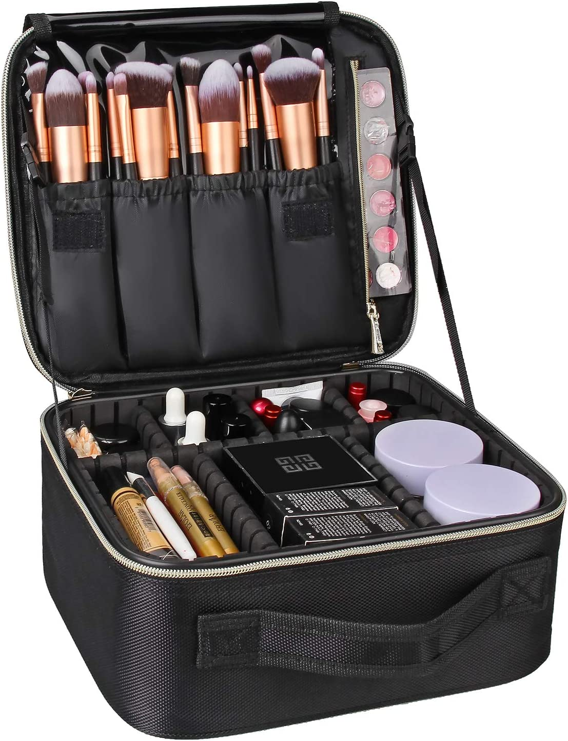 MONSTINA Makeup Train Cases Professional Travel Makeup Bag