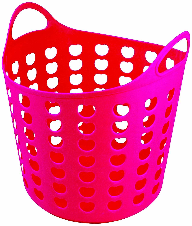 Elliotts Funky Cleaning Plastic Laundry Basket Pink Amazoncouk Kitchen Home
