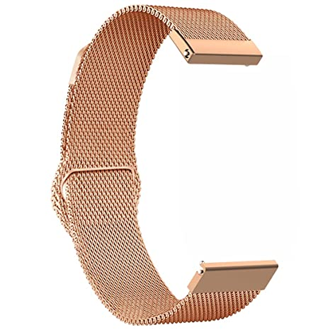Ruentech Bracelet de Remplacement pour Montre connectée Fossil Gen 4 Q‿Venture HR Bracelet milanais